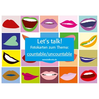 Lets talk! Fotokarten zum Thema countable/uncountable