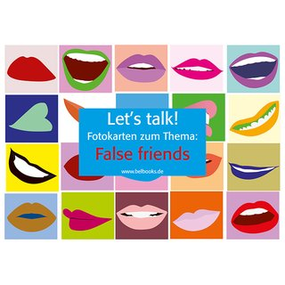 Lets talk! Fotokarten zum Thema False friends