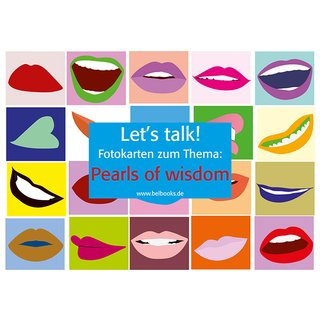 Lets talk! Fotokarten zum Thema Pearls of wisdom